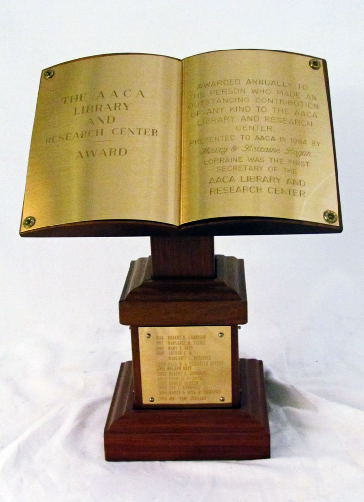 aaca library and research center award 2