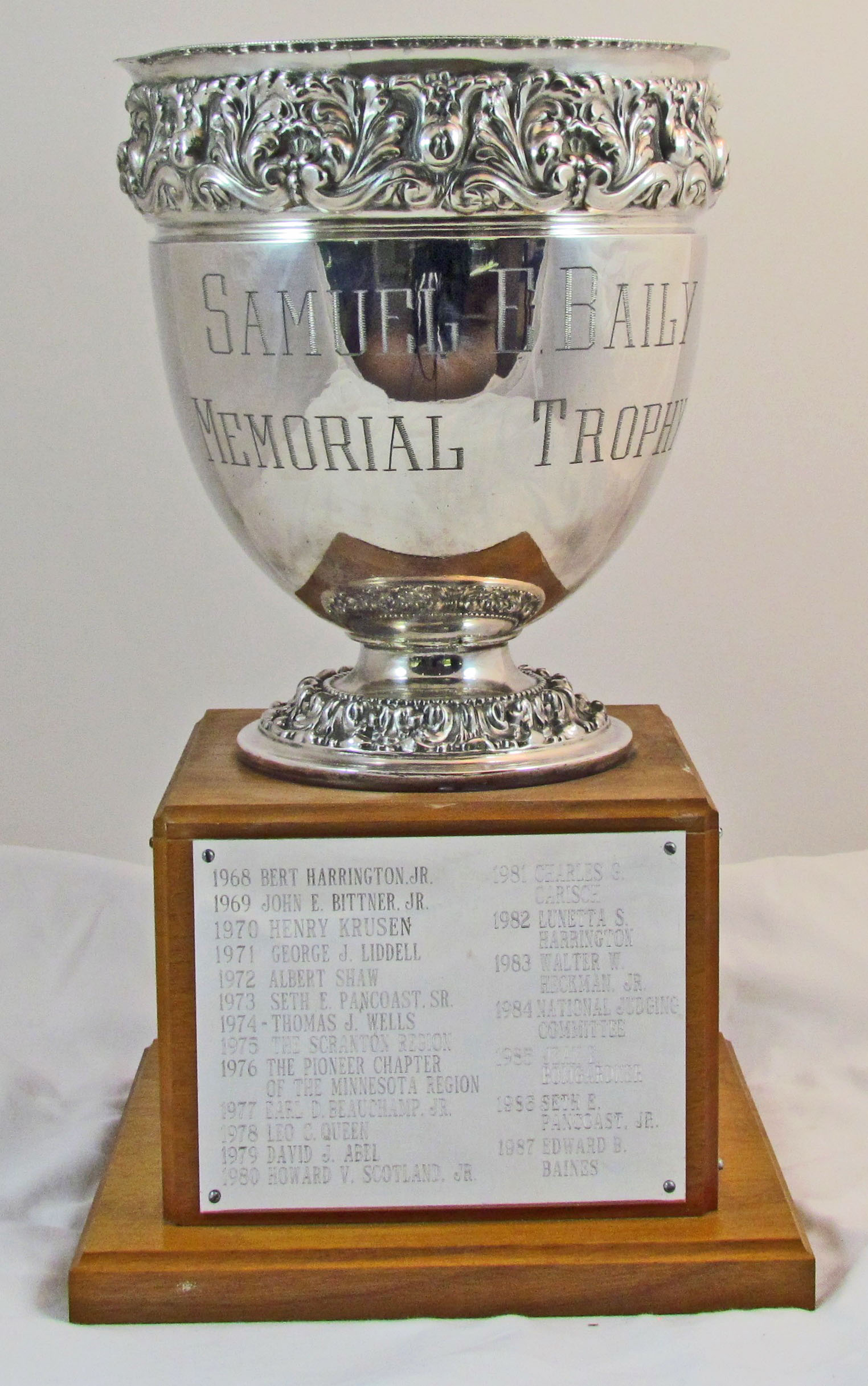 samuel e baily memorial award